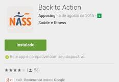 """alt=""""Back to action app para Android sobre espondilite anquilosante"""""""
