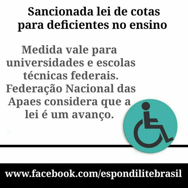Lei inclui pessoas com deficiência no sistema de cotas