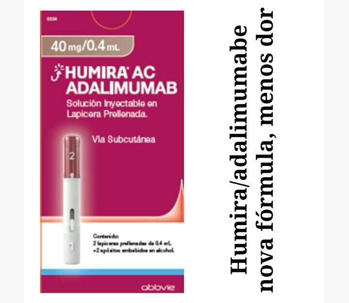 """alt=""""Adalimumabe nova fórmula reduz dor na aplicação"""""""